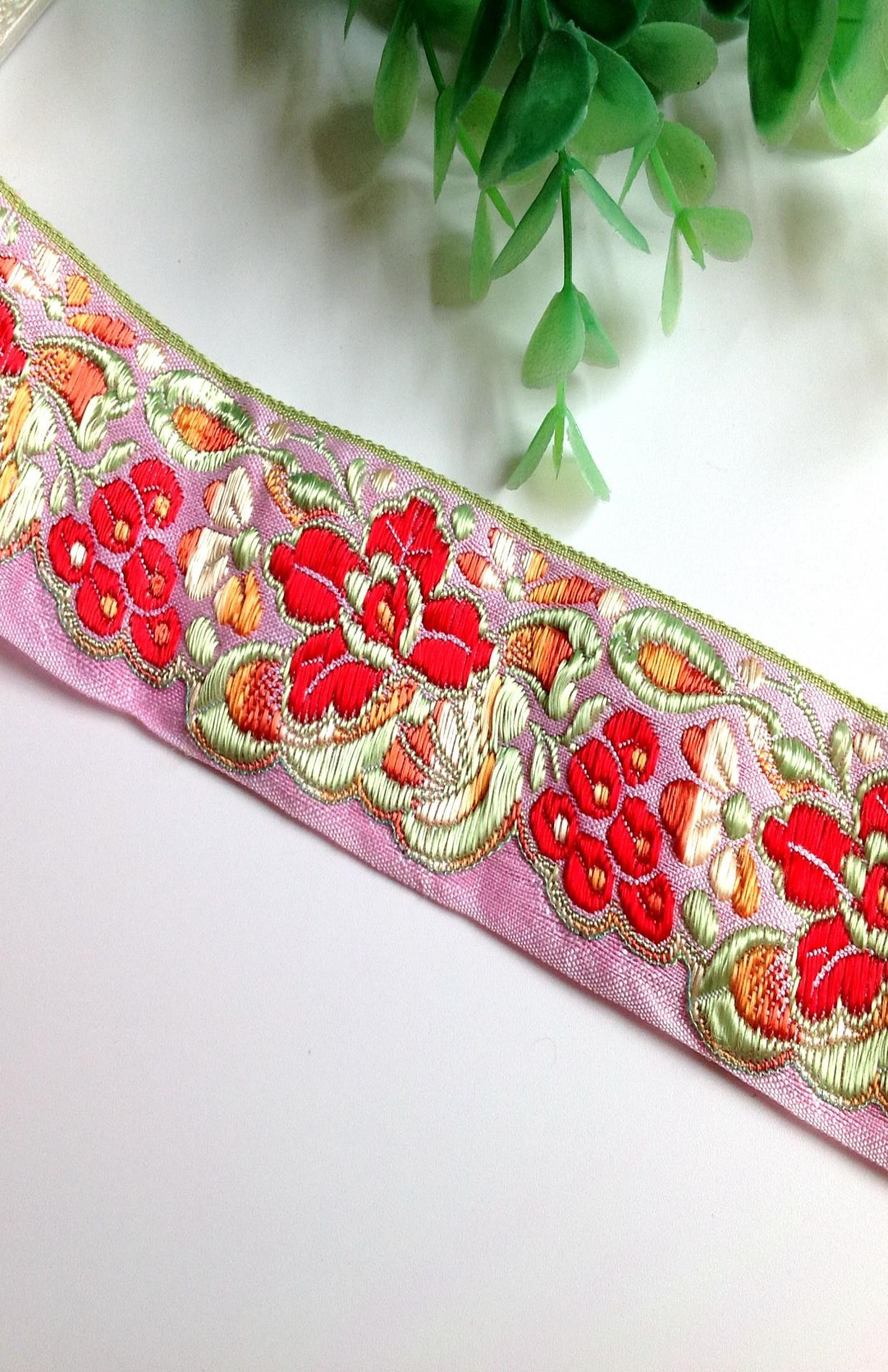 New national style lace accessories decorative cloth curtain cotton rayon embroidery jacquard webbing belt manual