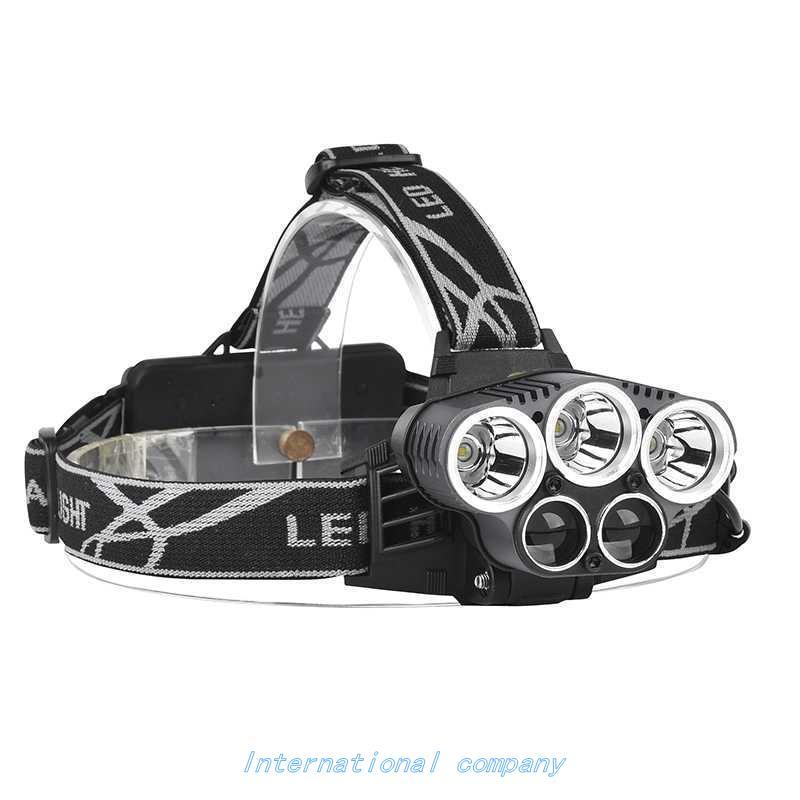 3X XM-L T6 + 2 X XPE LED REcHaRgEabLE HEaDLigHT 5 LED HEaDLa