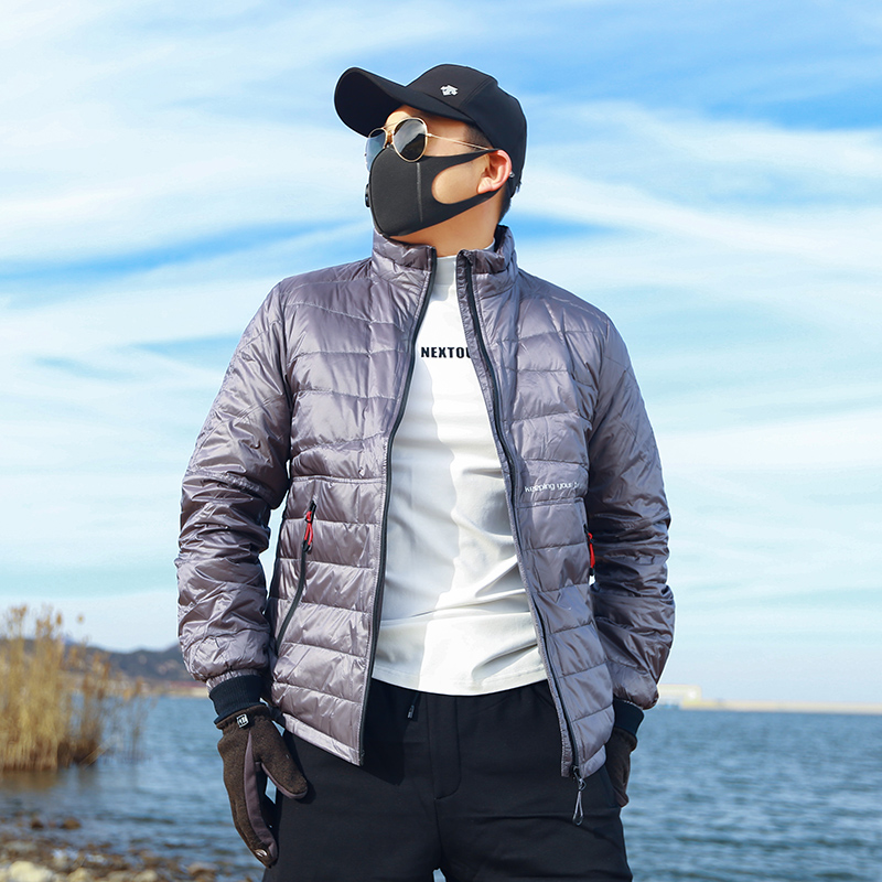 High end sports outdoor windproof warm standing collar white duck down jacket jacket ski bread