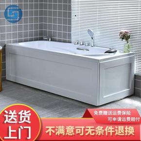 。洗澡盆易清洗按摩浴缸小型冲浪按摩泡澡池奢华独立浴缸独立式