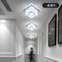 佑辉走廊灯过道灯现代简约嵌入式led射灯水晶筒灯入户进门玄关灯