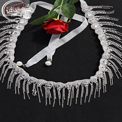 L new style belly dance waist chain gem navel chain tassel water diamond dance exercise chain accessories flash L