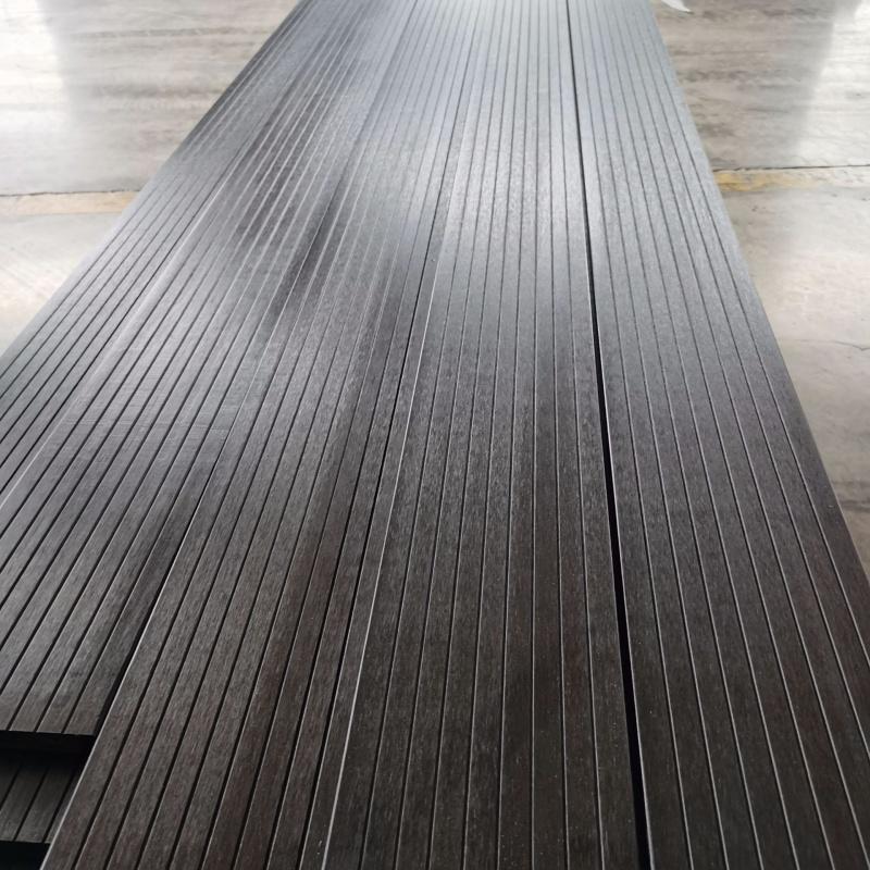生产竹木地板户外咖啡色竹木地板小沟槽大波浪防腐木板