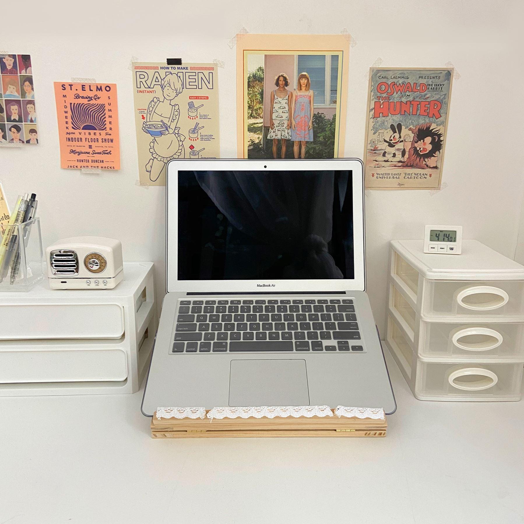 散热架平板新款电脑游戏配件保护ima书桌笔记本底座木质升降支架