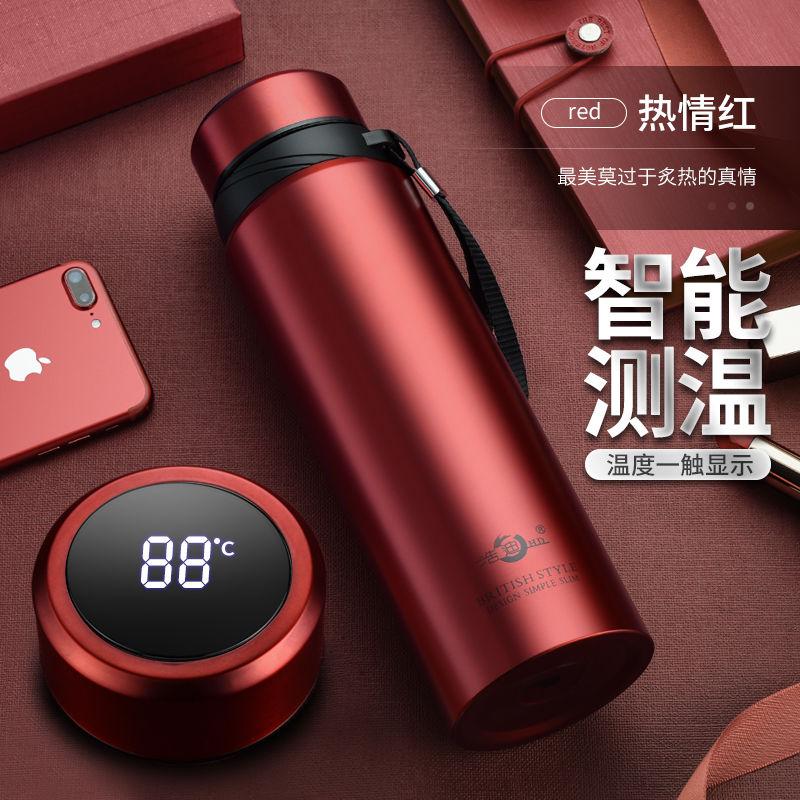 智能304不锈钢大容量保温杯男女韩版便携户外商务泡茶水杯子