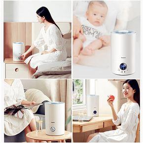家庭杀菌空调房可加香精房间易清洗滤芯加湿器湿度白色保湿