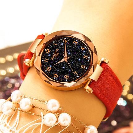 抖音同款星空网红手表女表2018新款潮流时尚防水简约星空女士手表