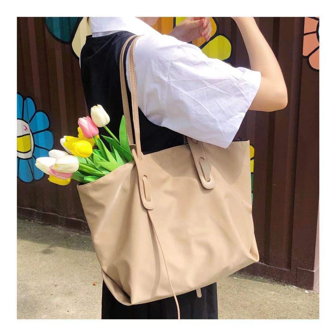 不瞌睡的包铺 新款防水尼龙单肩托特包子母包可放下a4纸包包女夏