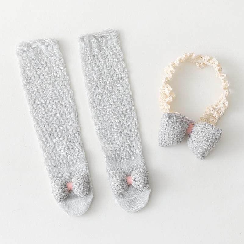 。 Cute newborn socks super baby cute baby mosquito set gift hundred hair belt anti gift box one year old day socks D