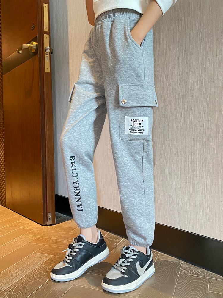 Spring pants. Mid foot childrens seasonal autumn pants new industrial sports band 2021 autumn off pants womens childrens pants casual autumn Z