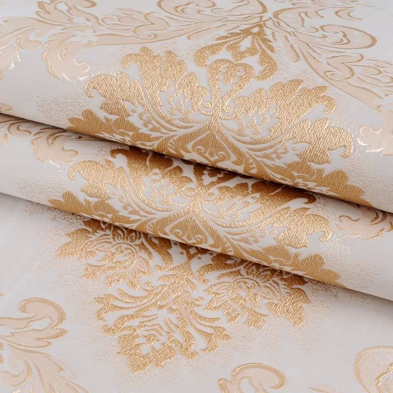 3d欧式无缝墙布 刺绣提花高档美式轻奢壁布全屋 客厅卧室背景墙