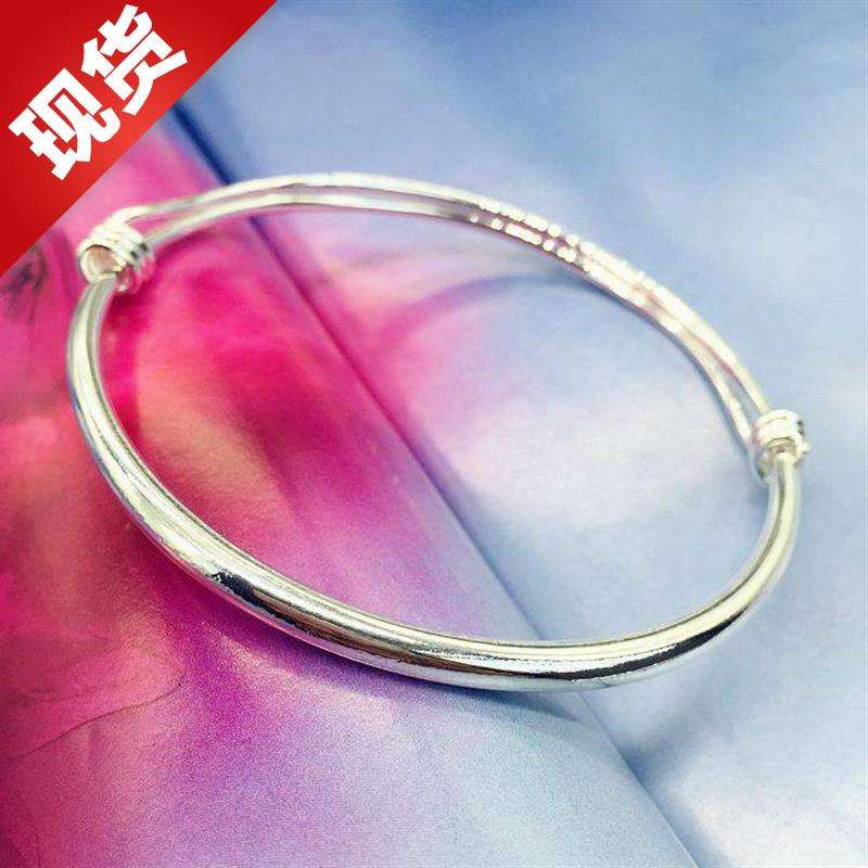 Korean temperament small fresh T Bell anklet silver fashion Anklet girl smooth simple versatile new foot ring