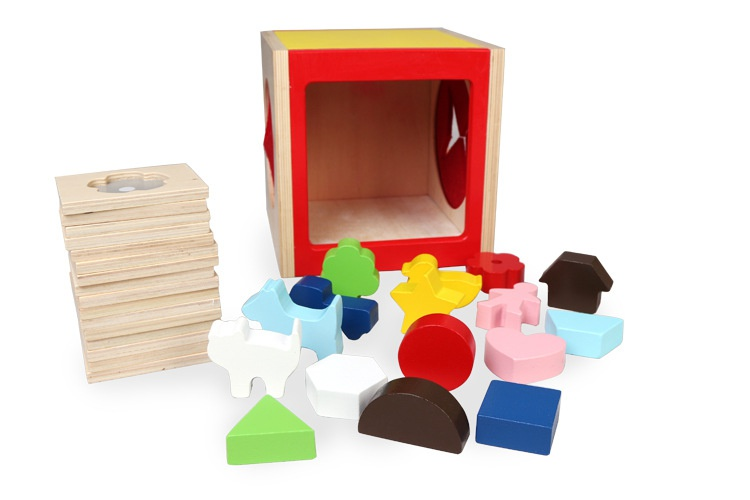Guess tactile intelligence tactile touch box matching toys box board early education to see baby shape touch