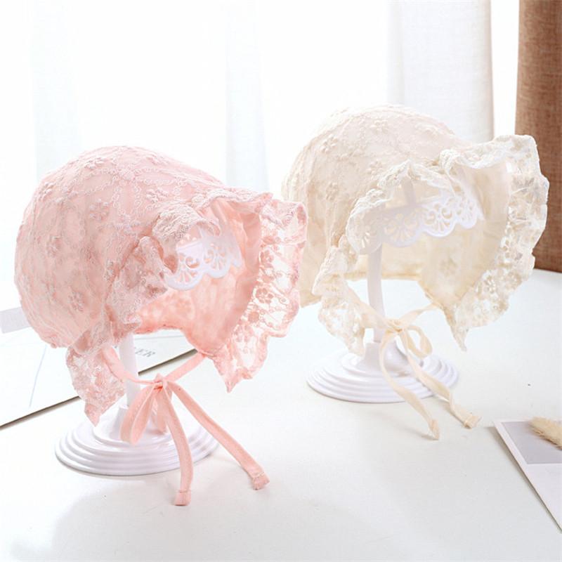 タオバオ仕入れ代行-ibuy99|帽子|婴儿帽子春夏薄款春季女宝宝新生儿胎帽宫廷帽0-3-6-12个月遮阳帽
