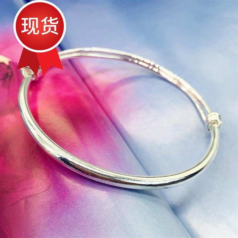 New Korean version small bell anklet silver fashion Anklet girl smooth simple versatile t quality foot ring
