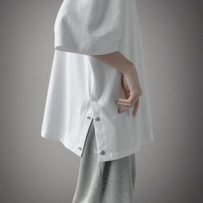 男士半袖衣服夏季ins潮流五分袖简约百搭港风短袖潮牌宽松纯色t恤