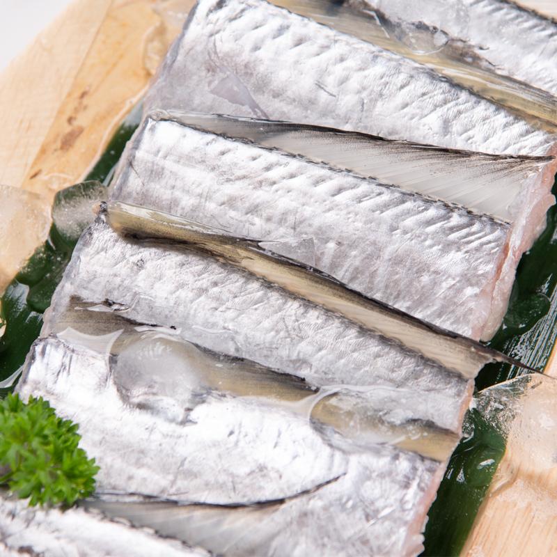 大连特产海产品生鲜水产 海捕带鱼中段500g 新鲜冷冻刀鱼去头去尾