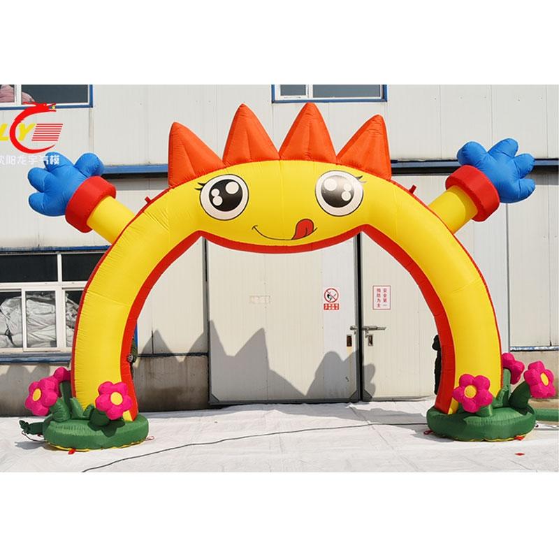 中國代購|中國批發-ibuy99|���������������|高档新款儿童卡通气模开业庆典满月生日充气拱门幼儿园开学活动。
