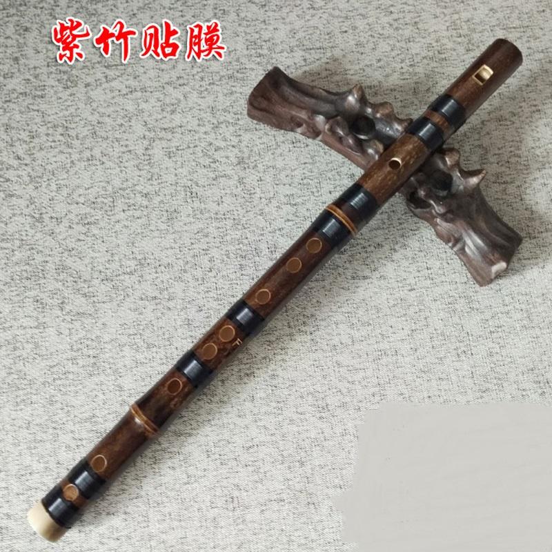 紫竹6孔竖笛乐器成人学生初学六孔直专业演奏葫芦哨笛子。