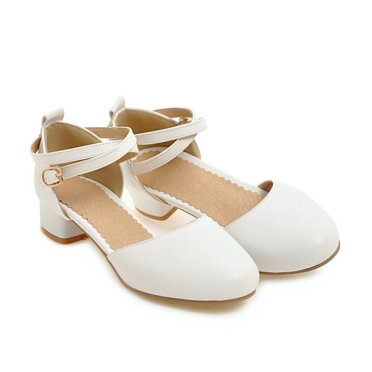 。儿童童白色钢琴主持单鞋比赛Y中高跟公主表皮鞋女童晚礼服鞋演