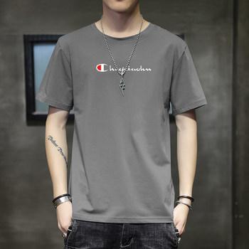 男士纯色短袖t恤男潮牌纯棉百搭