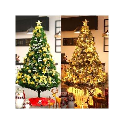 铃铛儿童装饰橱窗裸树礼品袋圣诞树套装套餐袜子红色堆头圣诞球。