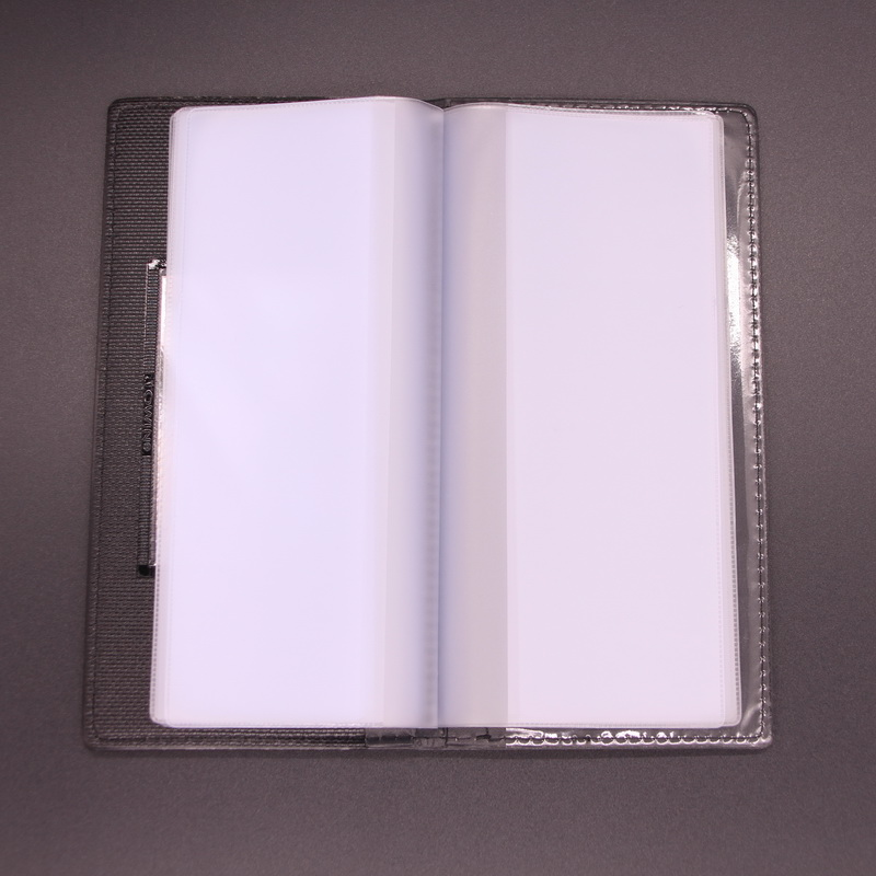 Long wallet receipt special check wallet financial wallet leather bill folder cheque book branch