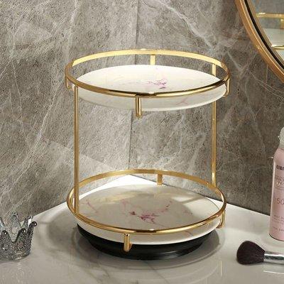 物架盒护肤品可梳妆台北欧L旋转收纳置桌面化妆品托盘收纳