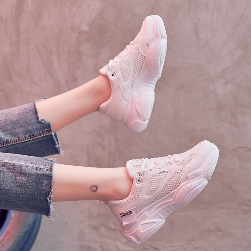 Sports white sports shoes low top shoes small white shoes womens Korean fashion casual students versatile spring shoes