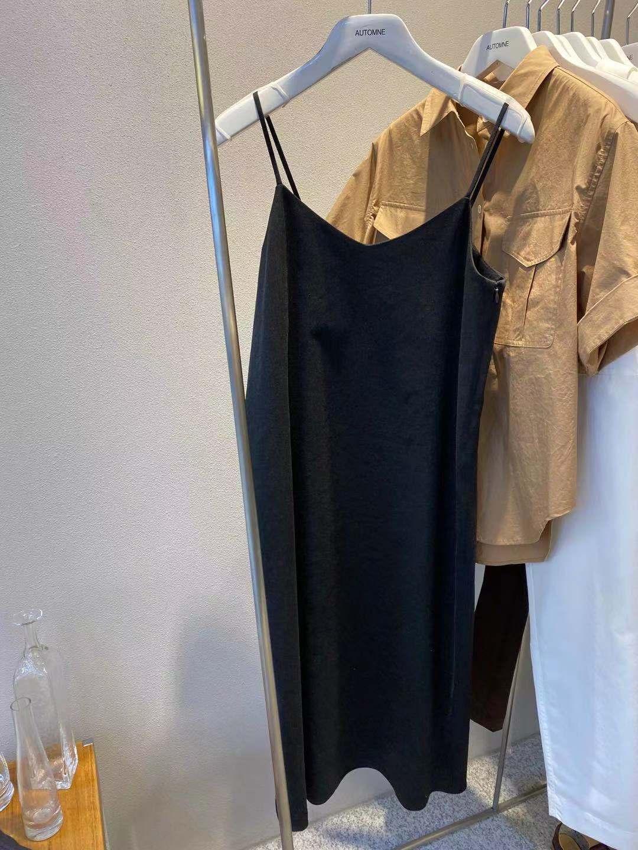 Aut贵姐家 PH大倩  高端气质优雅麻料带弹h性的吊带连衣裙 052802