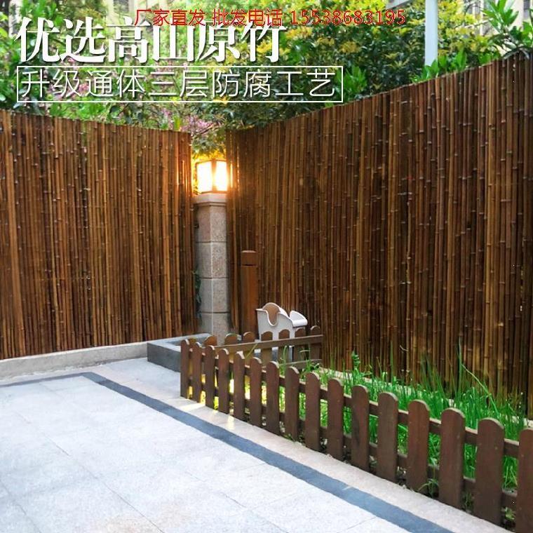 竹篱笆棚栏围栏窗台护栏户外农村自建房度假村防腐木餐厅网格隔断