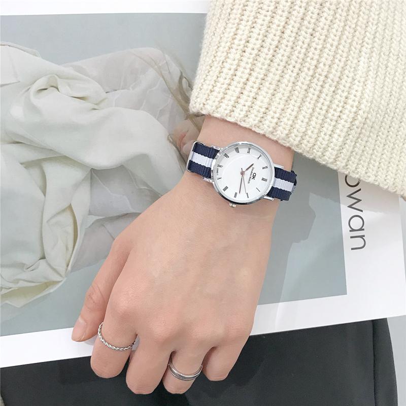 手表男女学生韩版简约时尚潮流ulzzang 防水个性休闲大气中性复古