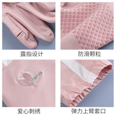 Sleeve double finger gloves female open fingered fishing one-piece arm protection electric car sunscreen sleeve ultra-thin protection