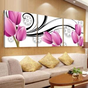 沙发后边的客厅背景墙装饰墙面挂画