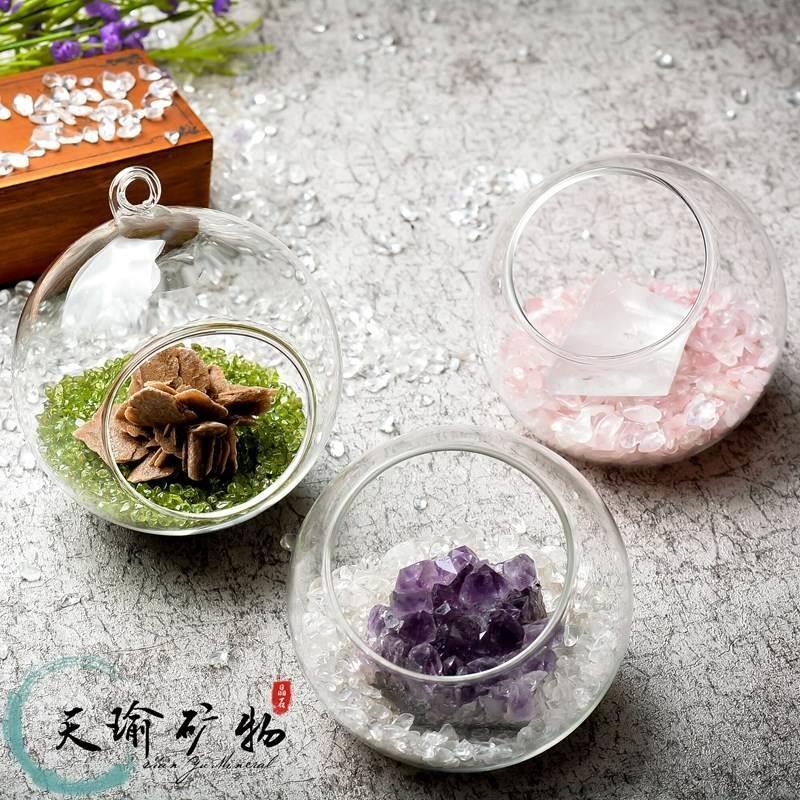 Degaussing powder Crystal Amethyst natural crystal ore raw stone desktop micro landscape bonsai ornament cluster white crystal energy stone