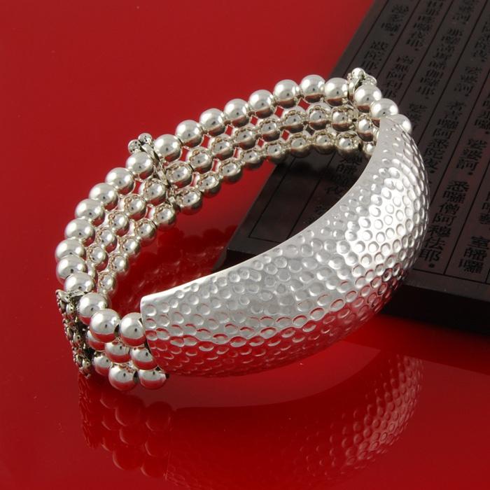 正品情人节原创设计青金石榴石多层手链纯银手镯大气个性首饰包邮