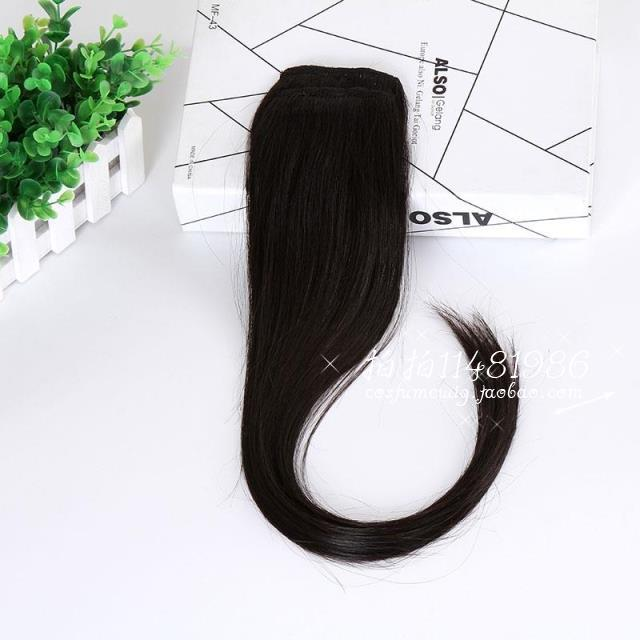 Genuine real hair receiving piece clip hair pad hair wig piece both sides of real hair realistic invisible real hair piece