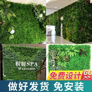 仿真植物墙绿植上墙壁阳台假花草皮墙面装饰绿色人造草坪背景网红