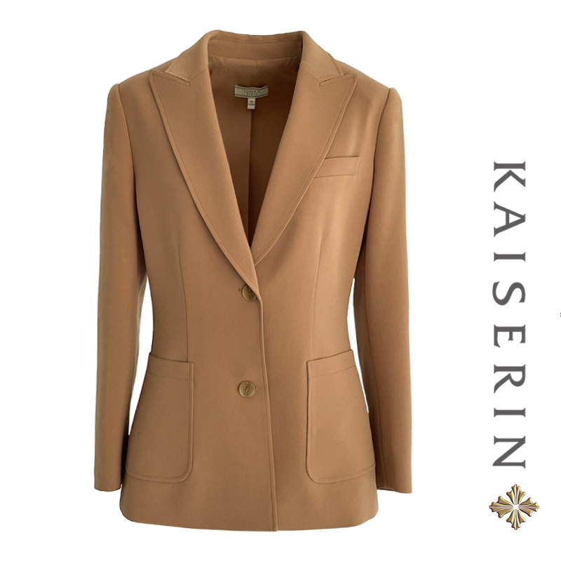 Kaiqi new camel suit spring Jacket Womens 2021 new suit womens fashion temperament and self-cultivation