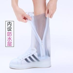 旅游防滑底高桶防雨鞋套成人防滑平底长筒儿童加厚款女式耐磨骑。