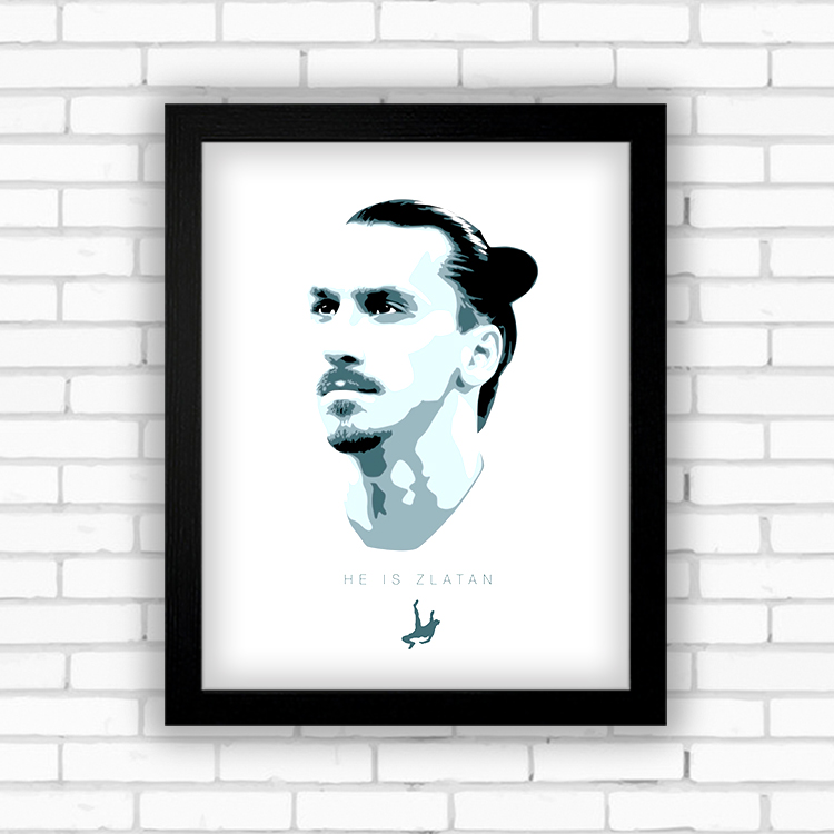 Chinese photo solid wood acrylic photo frame 7 hanging Ibrahimovic 10 football fans decorative wall table ornaments