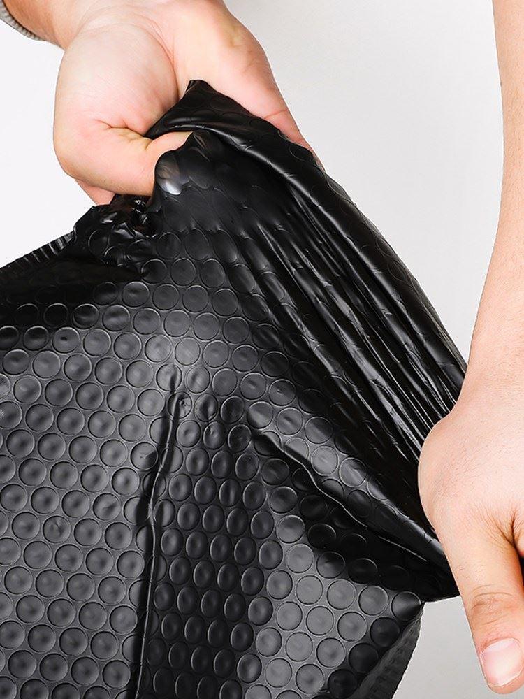 袋子黑色包装膜袋信封泡沫定制服装包装用袋挤快递哑共光气泡。