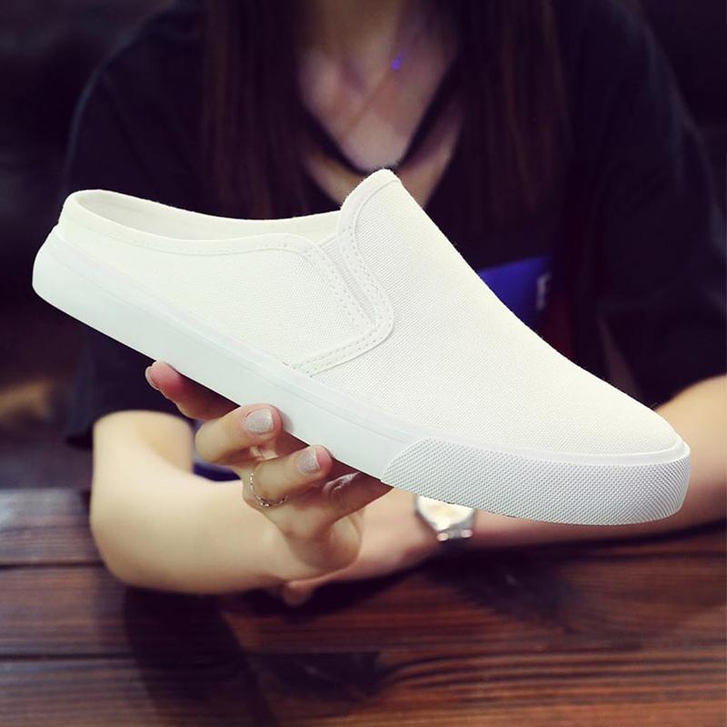 韩国后跟半拖鞋男式布鞋一2021男鞋