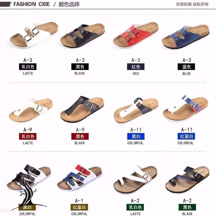 Couple cork sandals mens summer beach shoes mens Non Slip Korean fashion sandals leisure flip flops