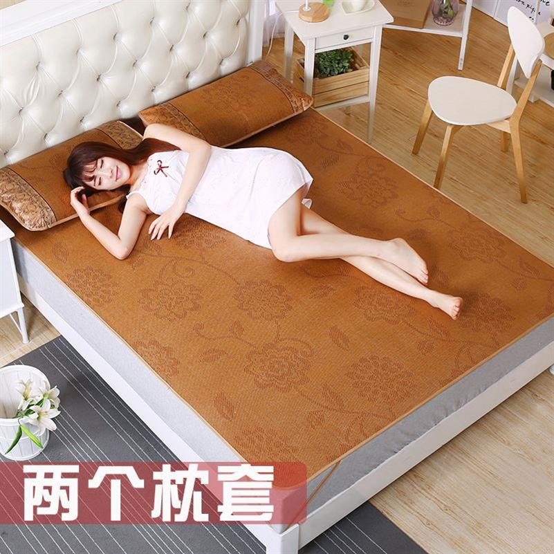 Rattan straw mat thickened household bedroom anti-skid double 1.5m adult men and women three single simple mat.