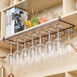 免钉家用红酒杯架倒挂欧式高脚杯架悬挂杯架酒柜摆件创意挂杯架子图片