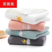 简约纯色毛巾棉加厚32股绣字毛巾柔软吸水情侣礼品广告定制毛巾