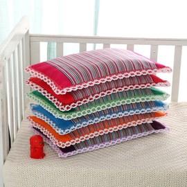 正宗纯棉老粗布荞麦壳儿童枕头枕芯0-3-6岁婴童幼儿透气吸汗护颈