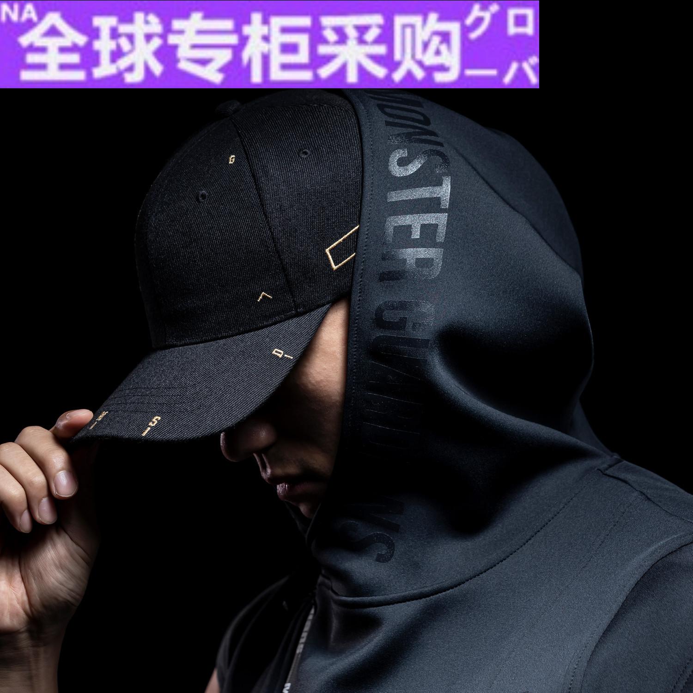 Japan PD mens hooded sports vest lightweight vest diagonal zipper fitness sleeveless top