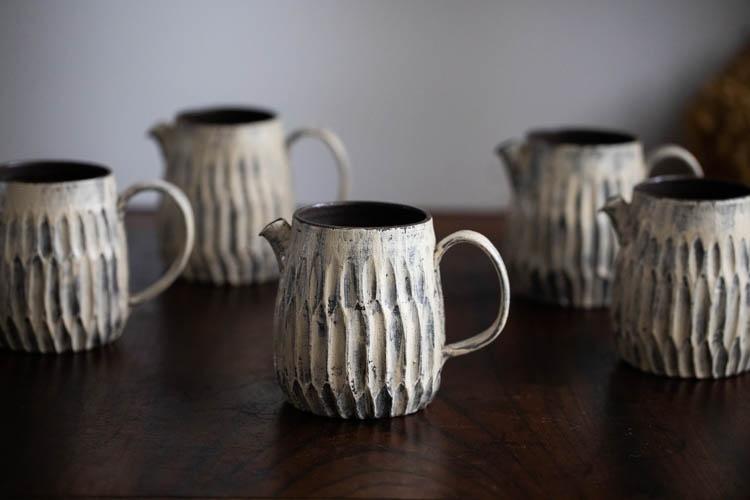 新款化妆土咖啡分享壶 水壶 匀杯 手作J器皿 | 思茶饭香
